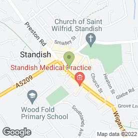 Map of STANDISH COMPUTERS & INKS LTD in Standish, Wigan, lancashire