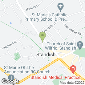 Map of CK Installations in Standish, Wigan, lancashire