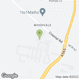 Map of Woodlands Retreat in Ainsdale, Southport, merseyside