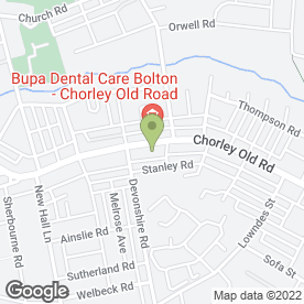 Map of Heaton House in Bolton, lancashire