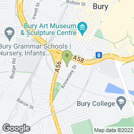 Map of BURY VENUES in Bury, lancashire