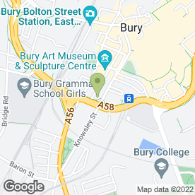 Map of Student Services in Bury, lancashire