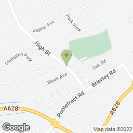 Map of Shafton Village W.M.C in Shafton, Barnsley, south yorkshire