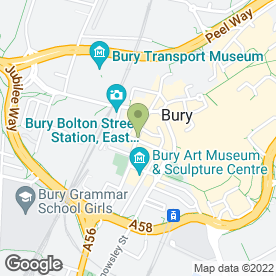 Map of Pizza Hut (UK) Ltd in Bury, lancashire