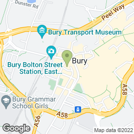 Map of Cristianos Laser Clinic in Bury, lancashire