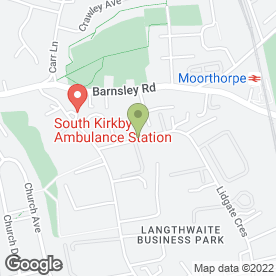 Map of Litestructures Ltd in South Kirkby, Pontefract, west yorkshire