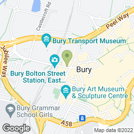 Map of Bury Cars in Bury, lancashire
