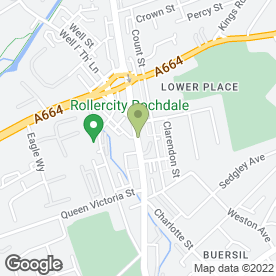 Map of UpperEastSide Tanning,Hair & Beauty in Rochdale, lancashire