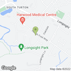 Map of Harwood Childrens Day Nursery in Harwood, Bolton, lancashire