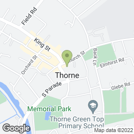 Map of HSBC Bank plc in Thorne, Doncaster, south yorkshire