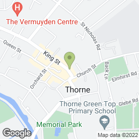 Map of Inspiration in Thorne, Doncaster, south yorkshire