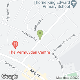 Map of King Edward Bouncy Castles in Thorne, Doncaster, south yorkshire