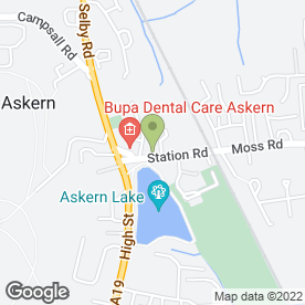 Map of Chillies Takeaway in Askern, Doncaster, south yorkshire