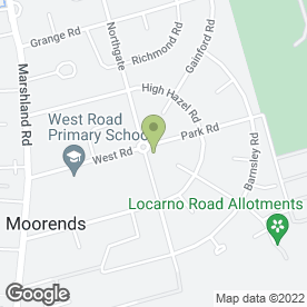 Map of Pizza Land in Moorends, Doncaster, south yorkshire