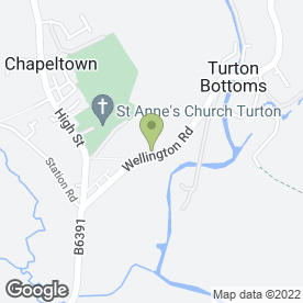 Map of Calm in Turton, Bolton, lancashire