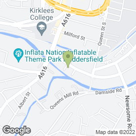 Map of Plumb Center in Huddersfield, west yorkshire