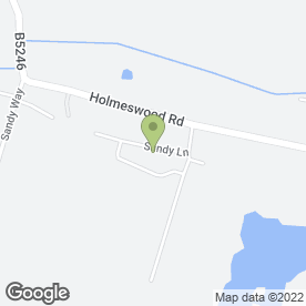 Map of Woodlands Farm in Holmeswood, Ormskirk, lancashire
