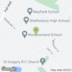 Map of Weldbank Garage in Chorley, Lancashire, lancashire