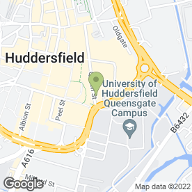 Map of Parker Bird Gardner in Huddersfield, west yorkshire