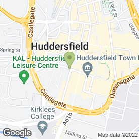 Map of Yes Personal Injury Lawyers in HUDDERSFIELD, west yorkshire