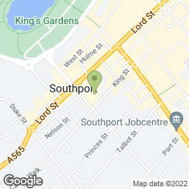 Map of Prince of Wales Hotel in Southport, merseyside
