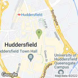 Map of Greggs in Huddersfield, west yorkshire