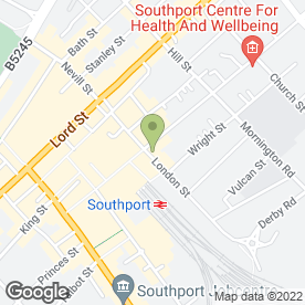 Map of The Hoghton Arms in Southport, merseyside