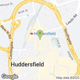 Map of Gencare Dental Clinic in Huddersfield