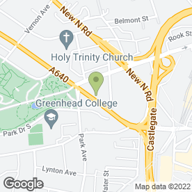 Map of Huddersfield School of Motoring in Huddersfield, west yorkshire