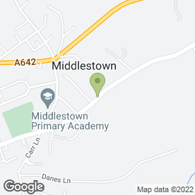 Map of Pawprint Plant in Middlestown, Wakefield, west yorkshire