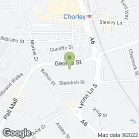 Map of Aladdins Carpets in George Street, Chorley, lancashire