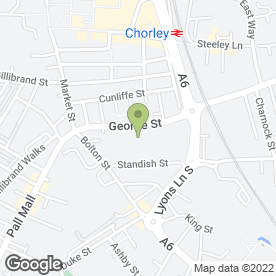 Map of Aladdins Carpets in George St, Chorley, lancashire