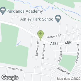 Map of Westwood Residential Care Home in Chorley, lancashire
