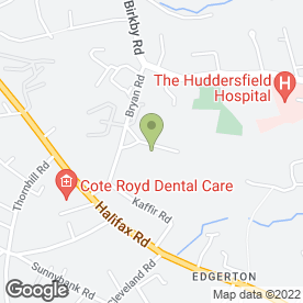 Map of Mount School in Huddersfield, west yorkshire