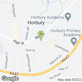 Map of The Cottage Chippy in Horbury, Wakefield, west yorkshire