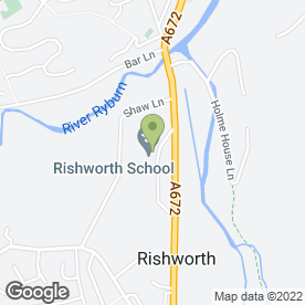 Map of Rishworth School in Sowerby Bridge, west yorkshire