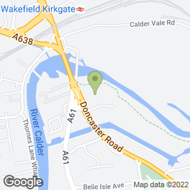 Map of Vauxhall - Evans Halshaw in Wakefield, west yorkshire
