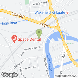 Map of Europcar Van Rental in Wakefield, west yorkshire