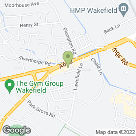 Map of R.A.M Mobile Electronics in Wakefield, west yorkshire