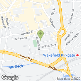 Map of Trinity Medical Centre in Wakefield, west yorkshire