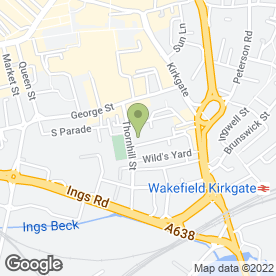 Map of Almshouse Surgery in Wakefield, west yorkshire
