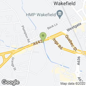 Map of GTP Cycles in Wakefield, west yorkshire