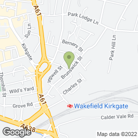 Map of Wakefield Skips in Wakefield, west yorkshire