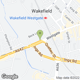 Map of Hodsons Estate Agents Ltd in Wakefield, west yorkshire