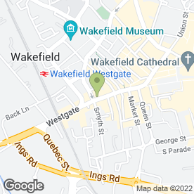 Map of Theatre Royal Wakefield in Wakefield, west yorkshire