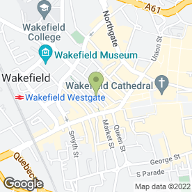 Map of Springfield Beauty Salon in Wakefield, west yorkshire