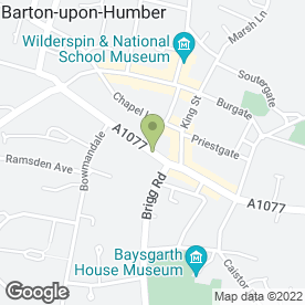 Map of HSBC Bank plc in Barton-Upon-Humber, south humberside