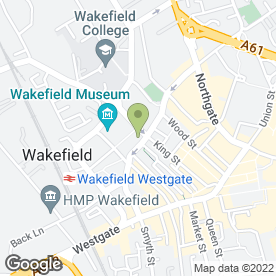 Map of Dixon Coles & Gill in Wakefield, west yorkshire