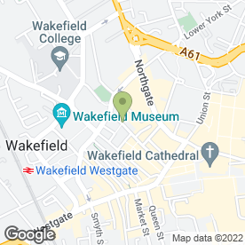 Map of Just Sandwiches in Wakefield, west yorkshire