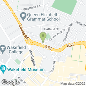 Map of PARKINSON in Wakefield, west yorkshire